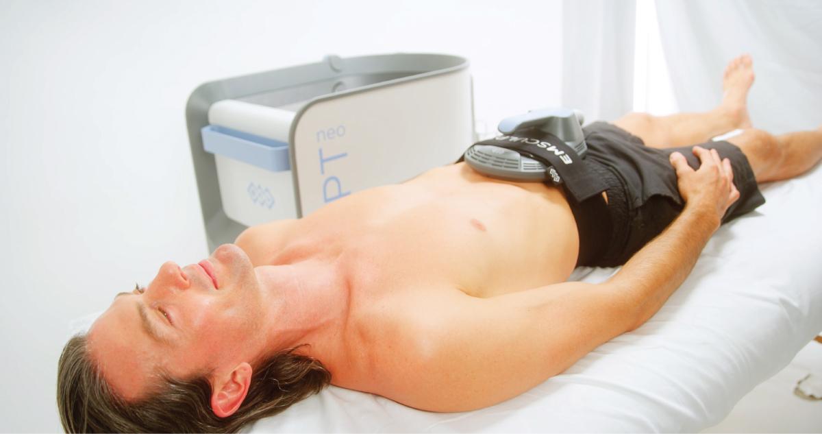 men's abdomen emsculpt neo